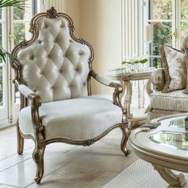 Кресло с подлокотниками, темное дерево, Platinum