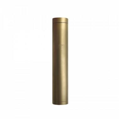 Фляга охотничья 100 мл, покрытие золотом 24К, с гравировкой,  в кожаном чехле с тиснением