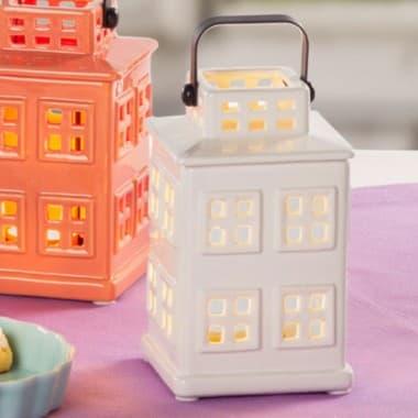 Декоративный фонарик Молочный домик 16 см