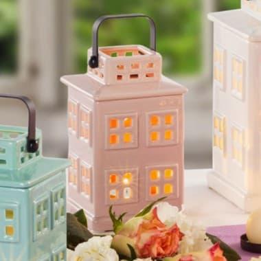 Декоративный фонарик Айвори домик 16 см