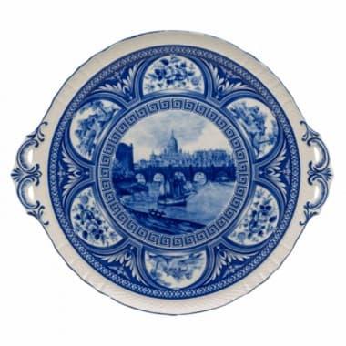 Блюдо декоративное для торта /сыра,  English Blue
