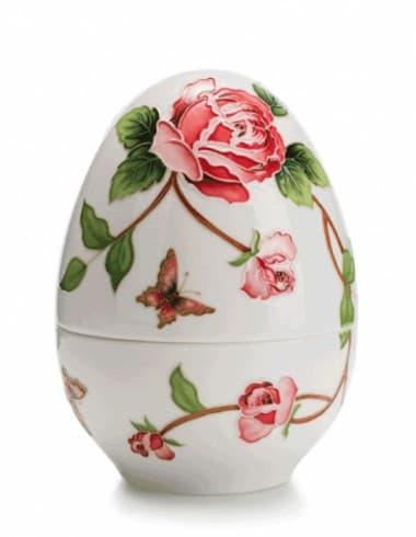 Фарфоровая шкатулка Яйцо,  ручная роспись