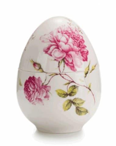 Фарфоровая музыкальная шкатулка  Яйцо, 15 см,  ручная роспись