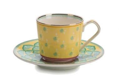 Чашка с блюдцем, желтый