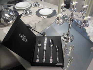 Набор столовых приборов на 24 предмета Venere Black Gold