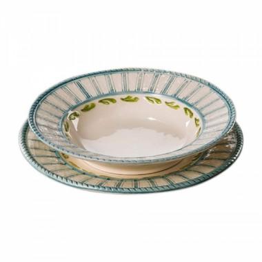 Тарелка суповая Яхта ручная роспись