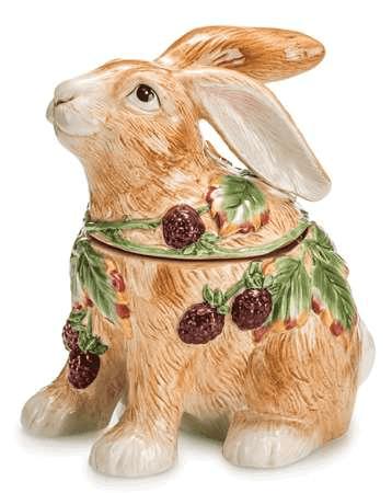 Ваза для печенья Заяц, ручная роспись
