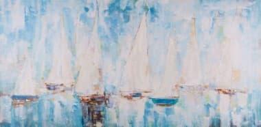 Печать с ручной росписью Morning Sails