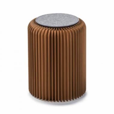 Столик под лампу низкий, коричневый