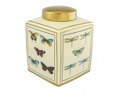 Коробка Buckeye,  белая/золото,  ручная роспись