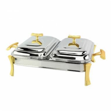Блюдо с подогревом на 2 секции MILAN Gold