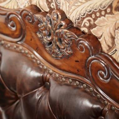 Кровать Размер Queen кожа