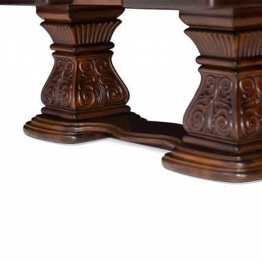 Прямоугольный обеденный стол на пьедесталах