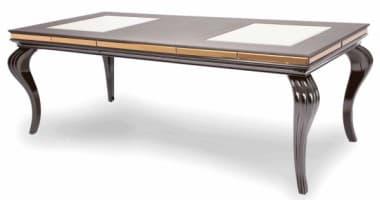 Обеденный стол со стеклянными вставками Ganache