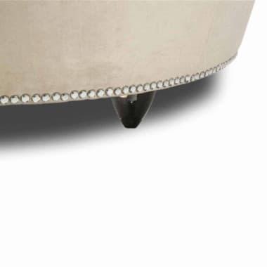 Коктейльный стол - отоманка, кристаллы, обивка Platinum