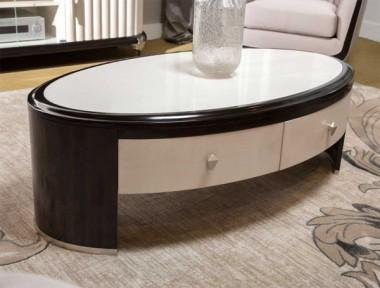 Овальный стол для коктейлей в парижском стиле, Espresso