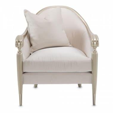 Акцентный стул, 1 декоративная подушка, цвет Pearl Clean
