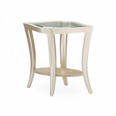 Приставной столик стеклянный топ