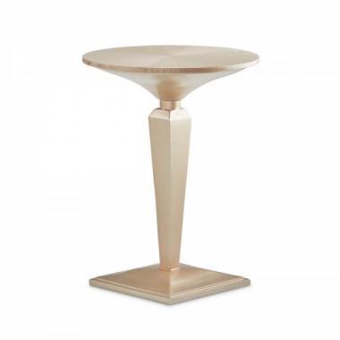 Круглый чайный столик на пьедестале