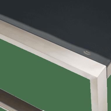 Стол журнальный прямоугольный в раме нержавеющая сталь сатин
