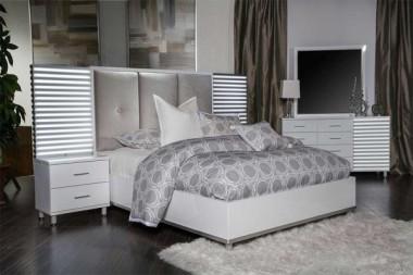 Кровать модульная, панельная спинка, Cloud White разм. Eastern King