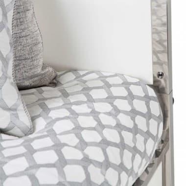 Кровать с кожаной обтяжкой на декоративной стальной платформе, размер Cal King (3 предм)