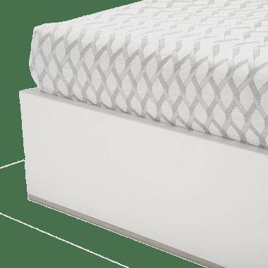 Кровать с кожаной обтяжкой, размер Cal King