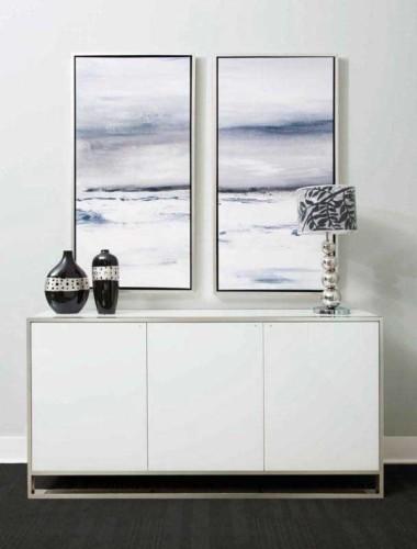 Сайдборд акцентный цвет Glossy White