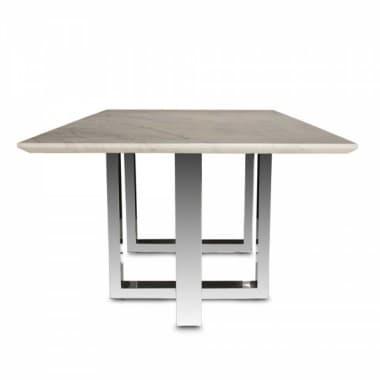 Прямоугольный обеденный стол с мраморным верхом