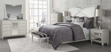 Кровать с мягким изголовьем, размер Cal King