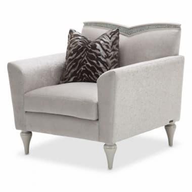Кресло акцентное с V-образной спинкой, обивка Dove/Сизый
