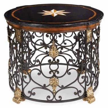 Декоративный столик на кованом кружеве