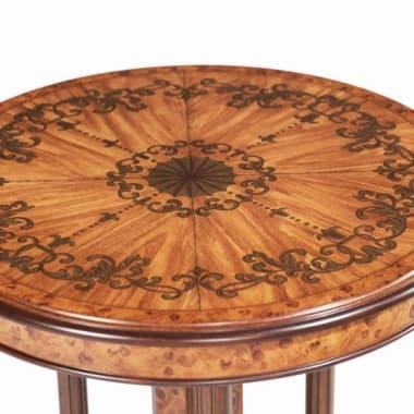 Круглый декоративный столик с расписным топом