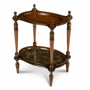 Декоративный овальный столик с подносом