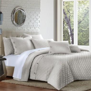 """Gibson"" Декоративное покрывало и подушки, набор из 8 предметов  (King) цвет Natural"