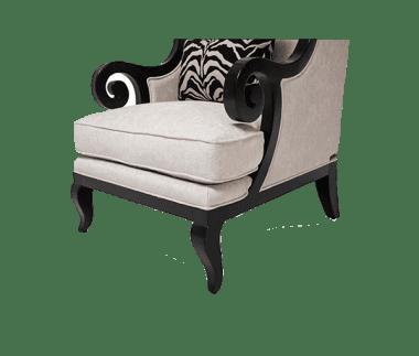 Кресло акцентное Foxie с высокой спинкой