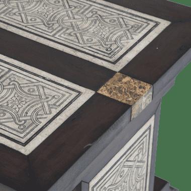 Стол журнальный с каменной инкрустацией La Paz