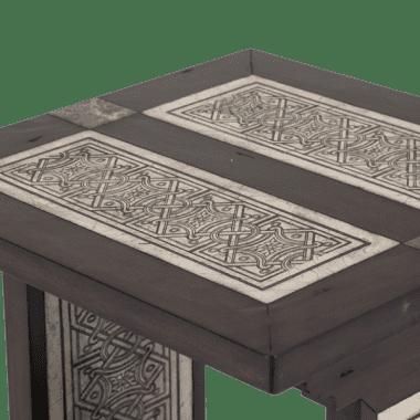 Стол под лампу с каменной инкрустацией La Paz