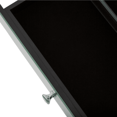 Зеркальный  журнальный стол с ящиками
