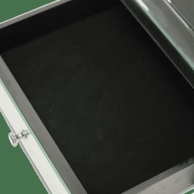 Зеркальный приставной стол с ящиком