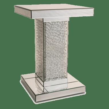 Зеркальный акцентный стол с хрустальной отделкой