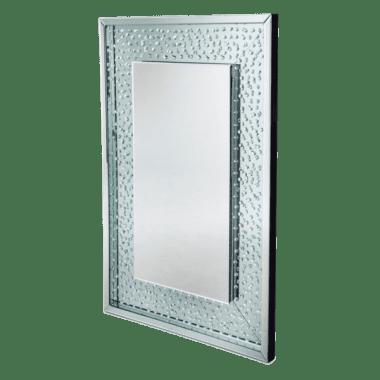 Зеркало прямоугольное, широкая белая рама