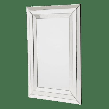 Зеркало прямоугольное, сложная стеклянная рама