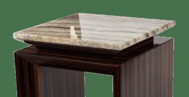 Акцентный столик с эбонитом Sergio низкий