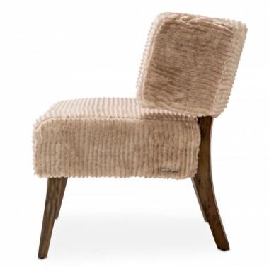 Кресло акцентное, спинка с ушами, цвет Пудра