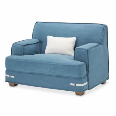Кресло полуторное, цвет Деним, 1 декоративная подушка