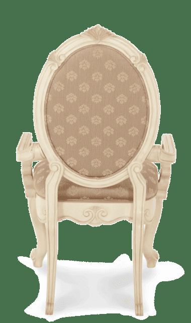 Стул с подлокотником (с тканевой обивкой)