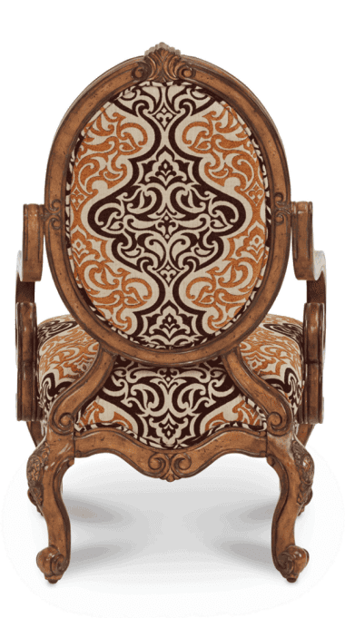 Кресло акцентное шоколад/беж