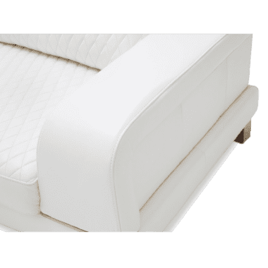 Bianca софа стандарт, цвет White, база металл RoseGold