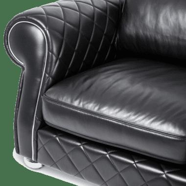 Lugano кресло полуторное Smooth_Black